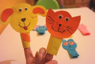 Paluszkowe pacynki - zwierzątka Aneta Grądzka-Rudziak Kreatywnie z dzieckiem Pomoce dydaktyczne Światowy Dzień Dzikiej Przyrody Światowy Dzień Zwierząt