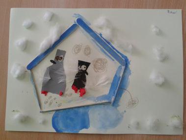 Pomagamy zwierzętom przetrwać zimę - karmnik Marlena Wrońska Prace plastyczne Prace plastyczne (Dzień Zwierząt) Światowy Dzień Dzikiej Przyrody Światowy Dzień Zwierząt Zima (Prace plastyczne)