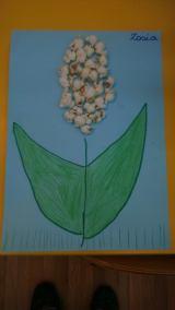 Popcornowy kwiatek Dzień Edukacji Narodowej Dzień Popcornu Joanna Barszcz Prace plastyczne Prace plastyczne (Dzień Edukacji Narodowej) Rośliny (Prace plastyczne)
