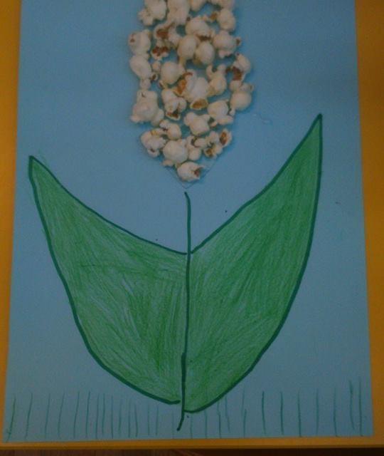 Popcornowy kwiatek