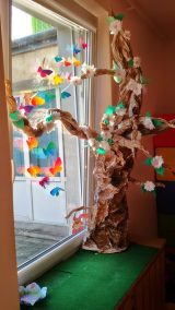 Wiosenne drzewo rozmiar XXL Dominika Kobylak Dzień Drzewa Dzień Lasu Dzień Leśnika Dzień Ochrony Środowiska Dzień Ziemi Kreatywnie z dzieckiem Prace plastyczne (Dzień drzewa) Prace plastyczne (Wiosna) Rośliny Wiosna