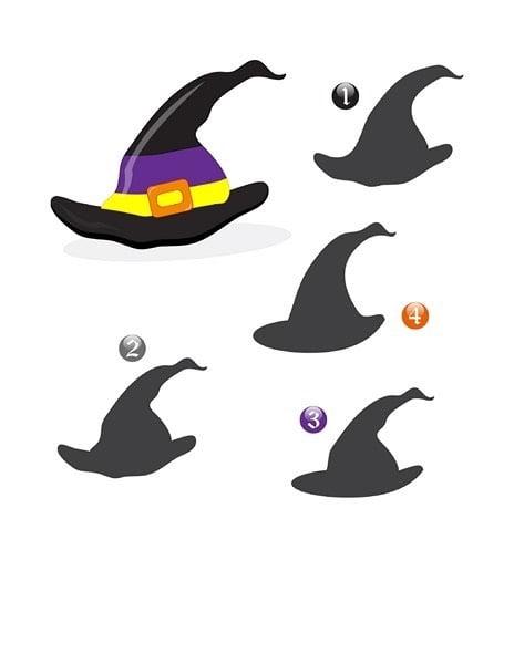 Dopasuj cień - Halloween Dopasuj cienie Spostrzegawczość