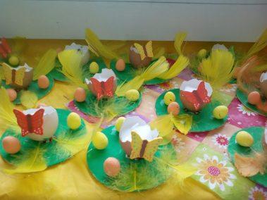 Świeczniki z wydmuszek Monika Okoń Prace plastyczne Prace plastyczne (Wielkanoc) Wielkanoc (Prace plastyczne)