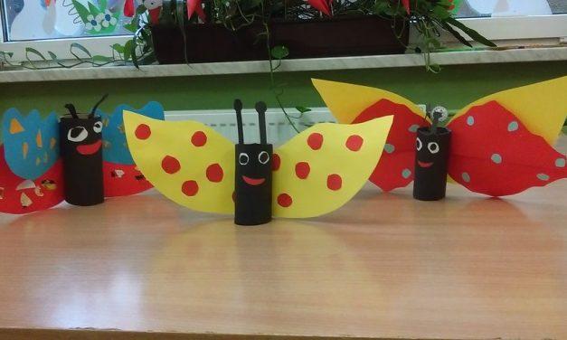 Motyle z rolek