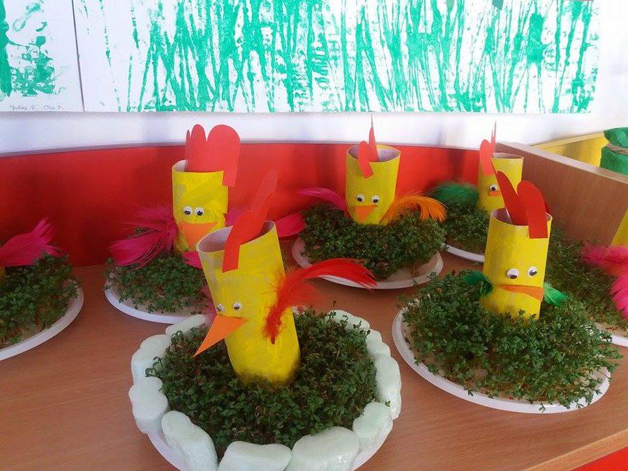 Kurczaczek z rolki Joanna Lewandowska Prace plastyczne Prace plastyczne (Dzień Zwierząt) Prace plastyczne (Wielkanoc) Światowy Dzień Zwierząt Wielkanoc (Prace plastyczne) Zwierzęta (Prace plastyczne)