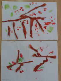 Jarzębinka z bibuły Dzień Drzewa Dzień Lasu Jesień Jesień (Prace plastyczne) Marlena Wrońska Prace plastyczne Prace plastyczne (Dzień drzewa)