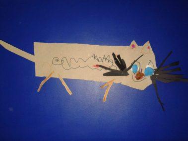 Kotek Kłopotek - wycinanka Dzień postaci z bajek Kreatywnie z dzieckiem Marlena Wrońska Prace plastyczne (Dzień Zwierząt) Światowy Dzień Kota Światowy Dzień Zwierząt Zwierzęta