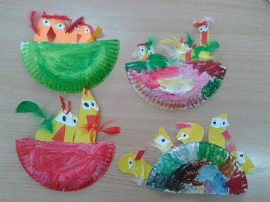 Kurczaczki w gnieździe z papierowego talerzyka Kreatywnie z dzieckiem Marlena Wrońska Prace plastyczne Prace plastyczne Prace plastyczne Światowy Dzień Zwierząt Wielkanoc Wiosna Zwierzęta