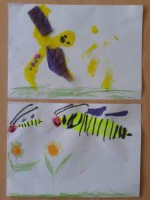 Pszczółki z bibuły Kreatywnie z dzieckiem Lato Marlena Wrońska Prace plastyczne (Dzień Zwierząt) Prace plastyczne (Wiosna) Światowy Dzień Zwierząt Wiosna Zwierzęta