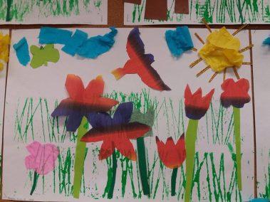 Wiosenna łąka Joanna Lewandowska Kreatywnie z dzieckiem Prace plastyczne (Wiosna) Wiosna