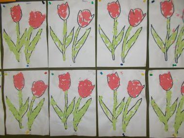 Wiosenne kwiaty Dzień Matki Dzień Taty Joanna Chorabik Kreatywnie z dzieckiem Prace plastyczne (Dzień Mamy) Prace plastyczne (Dzień Taty) Prace plastyczne (Wiosna) Rośliny Wiosna