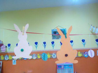 Zajączki zawieszki Kreatywnie z dzieckiem Monika Okoń Prace plastyczne (Dzień Zwierząt) Prace plastyczne (Wielkanoc) Światowy Dzień Zwierząt Wielkanoc Zwierzęta