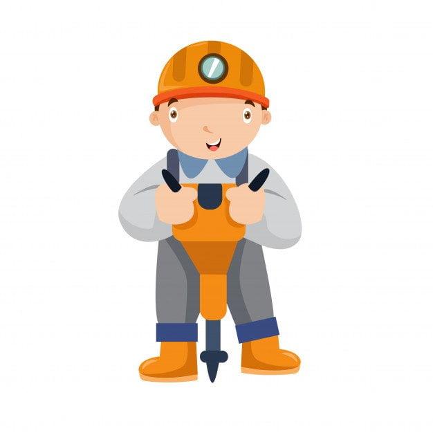 Zabawa Górnik w kopalni