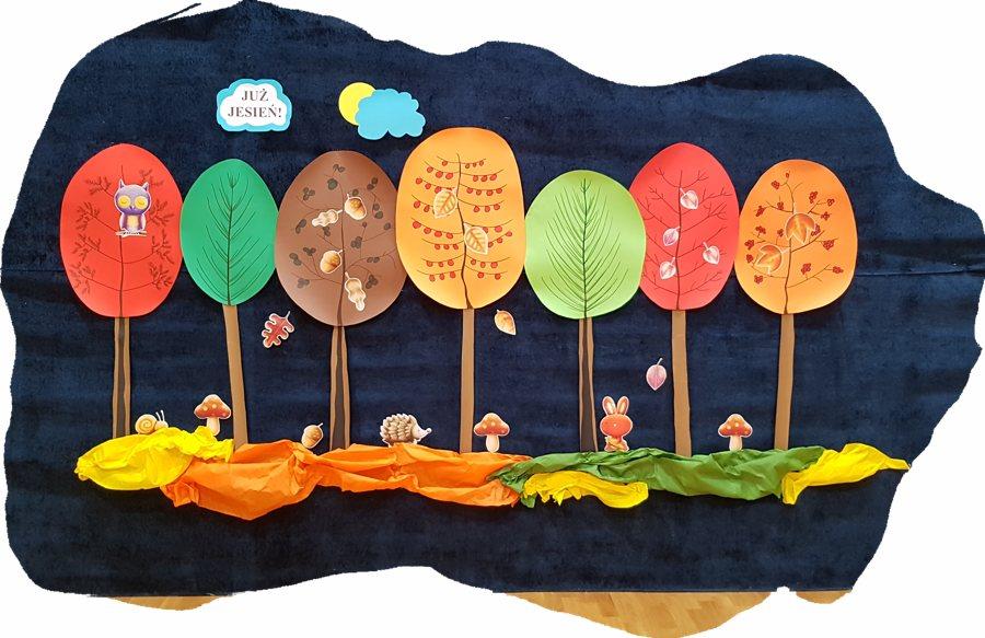 Już jesień - dekoracja Daria Kur Jesień Jesień Kreatywnie z dzieckiem Prace plastyczne