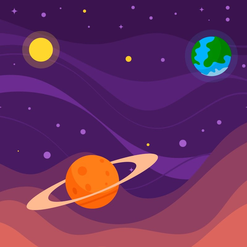 Kosmiczne przyrzeczenie Agata Dziechciarczyk Dzień Lotnictwa i Kosmonautyki Kosmos i planety (Wierszyki) Wierszyki