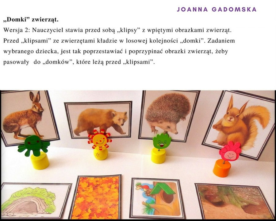 Wszystko o zwierzętach ich domy, odgłosy, zagadki Joanna Gadomska Pomoce dydaktyczne Scenariusze (Jesień) Światowy Dzień Dzikiej Przyrody