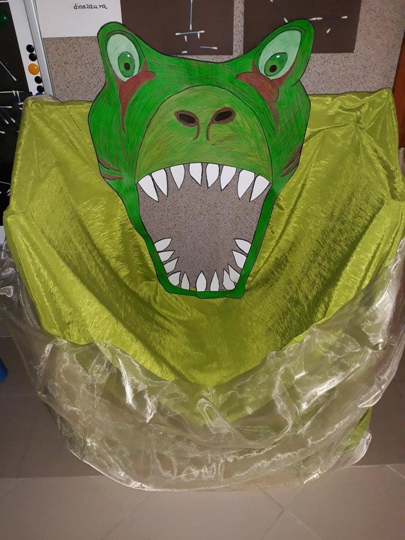 Fotobudka z kartonu na Dzień Dinozaura Dzień Dinozaura Małgorzata Wojkowska Prace plastyczne Prace plastyczne (Dzień Dinozaura)