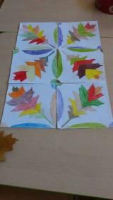 Cienie z liści Izabela Kowalska Jesień Jesień Kreatywnie z dzieckiem Prace plastyczne (Jesień)