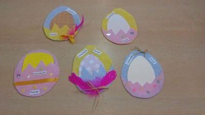 Filcowe kartki wielkanocne Izabela Kowalska Prace plastyczne Prace plastyczne (Wielkanoc) Wielkanoc (Prace plastyczne)