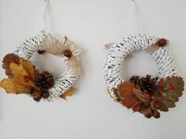 Jesienne wianki Dominika Kobylak Jesień Jesień (Prace plastyczne) Prace plastyczne Prace plastyczne (Jesień)