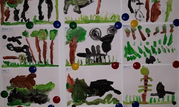 Las Jurajski – malowanie wyobrażeń farbami