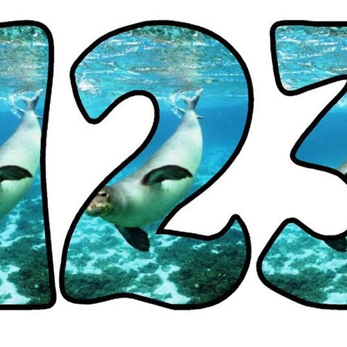 Zwierzęta głębinowe: litery okrągłe Litery i cyfry do tworzenia napisów Zwierzęta głębinowe Zwierzęta wodne