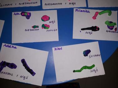 Zwierzęta z plasteliny (ćwiczenie motoryki małej) Małgorzata Wojkowska Prace plastyczne Prace plastyczne (Dzień Zwierząt) Prace plastyczne (Na wsi) Światowy Dzień Zwierząt Zwierzęta (Prace plastyczne)