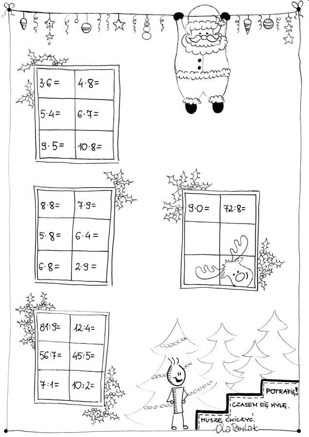 Karty myślograficzne - mnożenie i dzielenie (część 2) Ola Pawlak Pomoce dydaktyczne