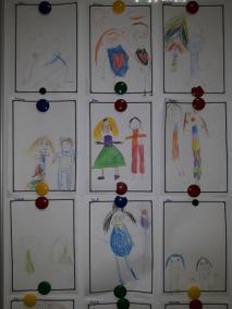 Portret Mamy i Taty Dzień Matki Dzień Rodziny Dzień Taty Kreatywnie z dzieckiem Małgorzata Wojkowska