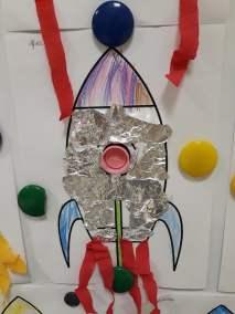 Statek kosmiczny Dzień Kosmosu Dzień Lotnictwa i Kosmonautyki Małgorzata Wojkowska Prace plastyczne Prace plastyczne (Dzień Astronomii)