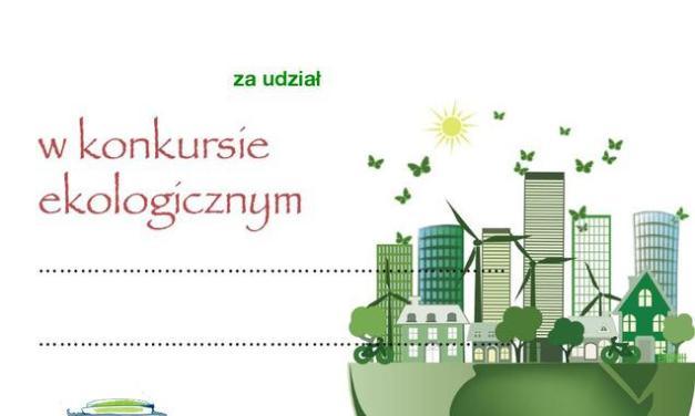 Dyplom za udział w konkursie ekologicznym