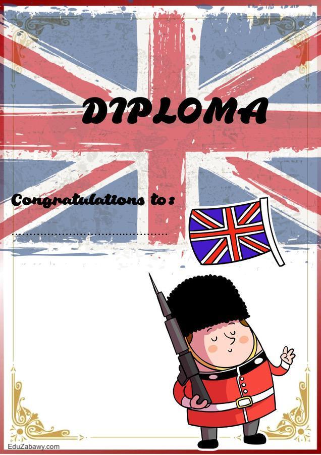 Dyplom za osiągnięcia z języka angielskiego Dyplomy Okolicznościowe Za osiągnięcia językowe