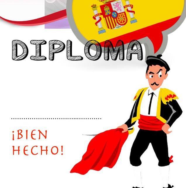 Dyplom za osiągnięcia z języka hiszpańskiego