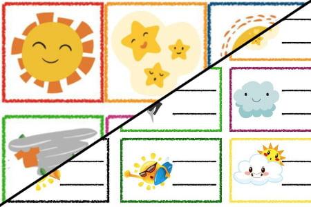 Znaczki przedszkolne – Pogoda