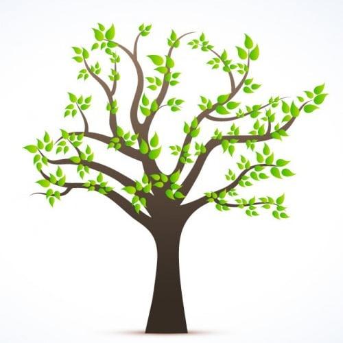 Napis Dzień Drzewa w zielone liście Dzień Drzewa Napisy (Dzień Drzewa)