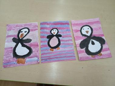 Leniwe ósemki - pingwinki Izabela Kowalska Kreatywnie z dzieckiem Zwierzęta