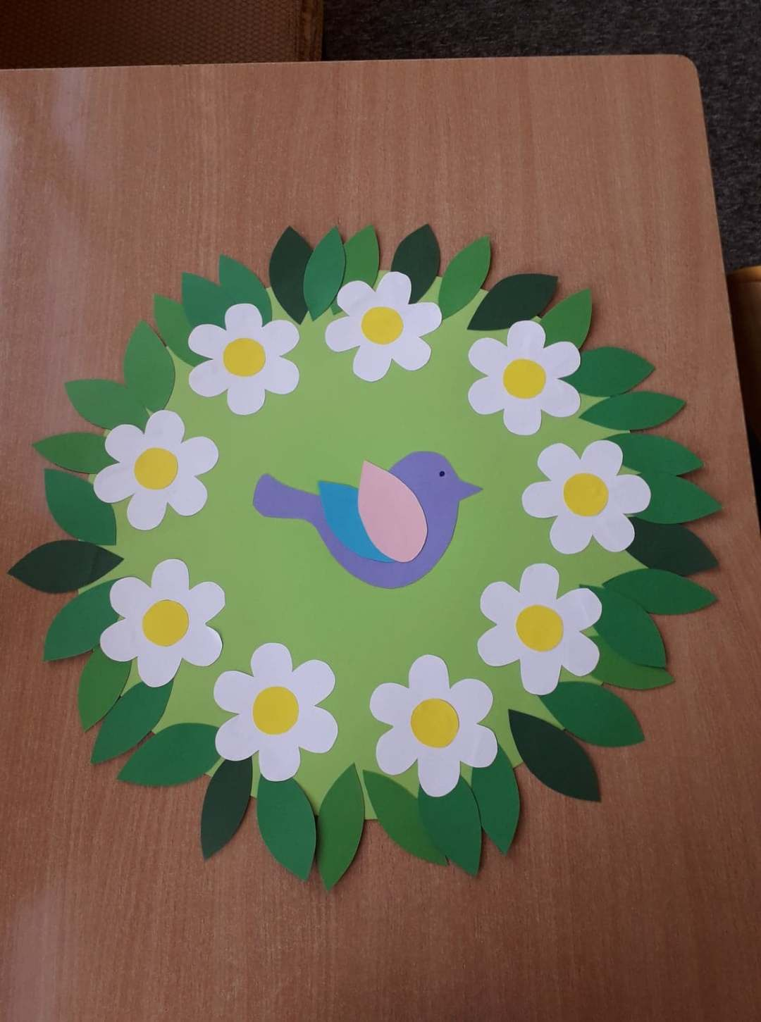 Dekoracja wiosenna na okna Alicja Mazur Kreatywnie z dzieckiem