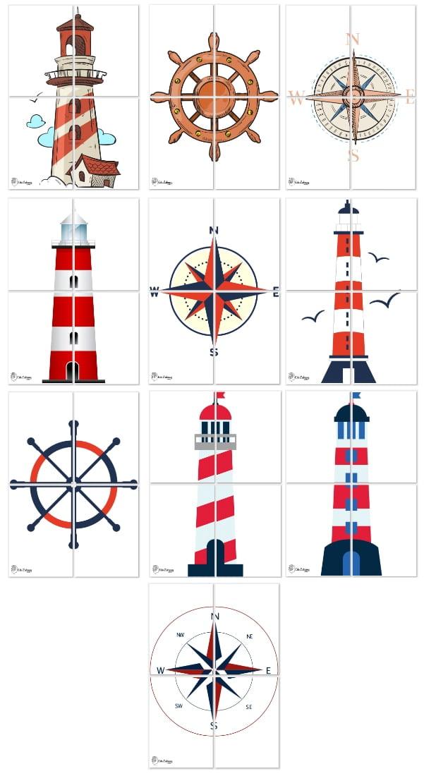 Dekoracje XXL: latarnia morska, ster (10 szablonów) Dekoracje Dekoracje XXL (Pożegnanie przedszkola) Dekoracje XXL (Zakończenie roku)