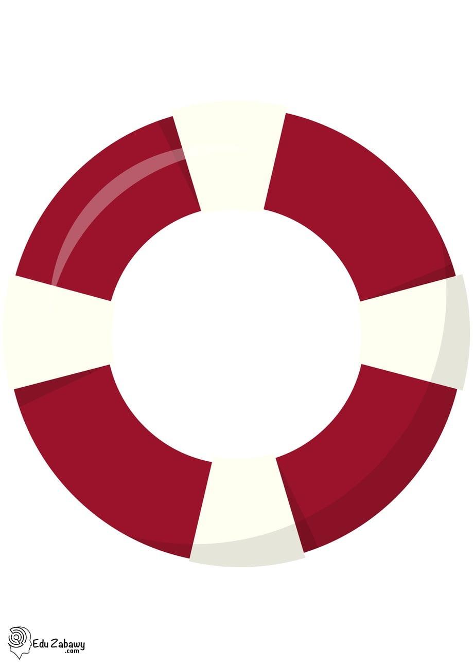 Dekoracje: łódki, koła ratunkowe (10 szablonów) Dekoracje Dekoracje (Pożegnanie przedszkola) Dekoracje (zakończenie roku)