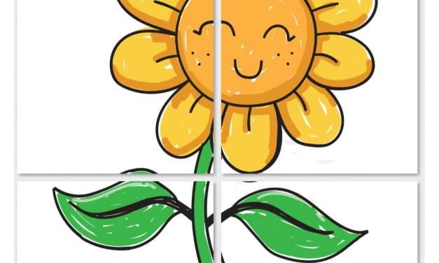 Dekoracje XXL: Słoneczniki (10 szablonów)