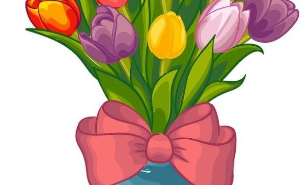 Dekoracje: Tulipan (9 szablonów)
