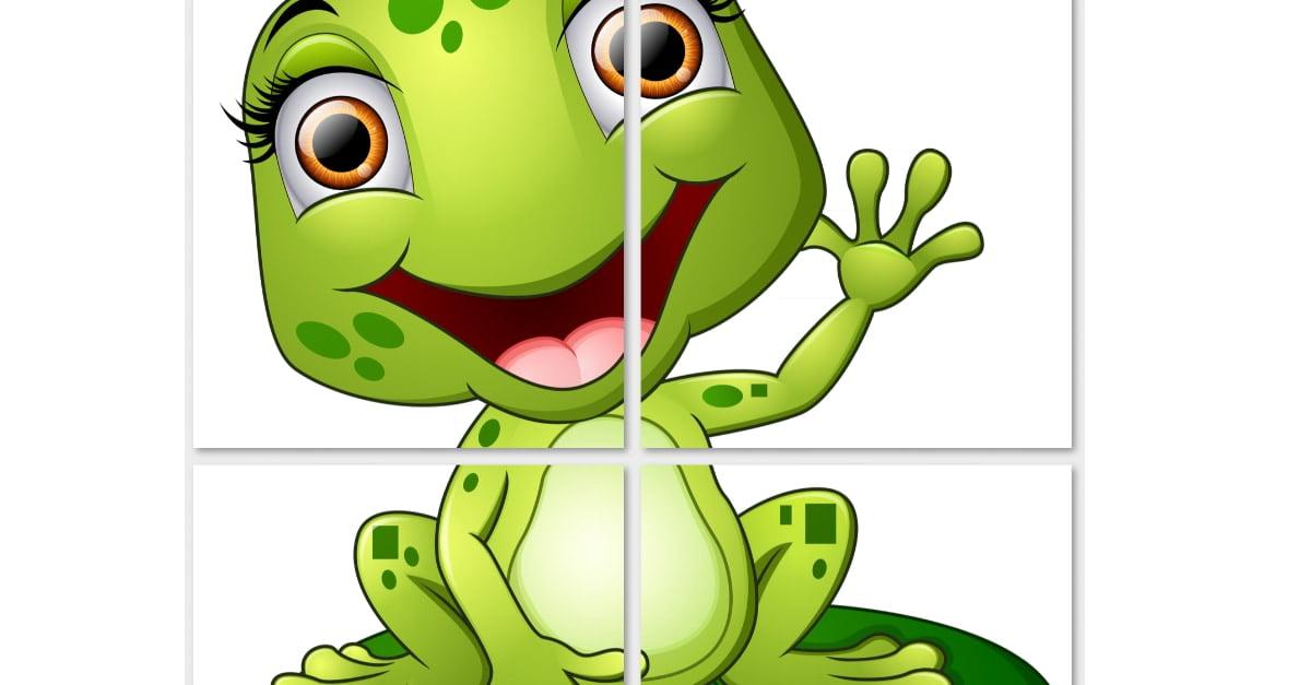 Dekoracje XXL: żabki (10 szablonów)