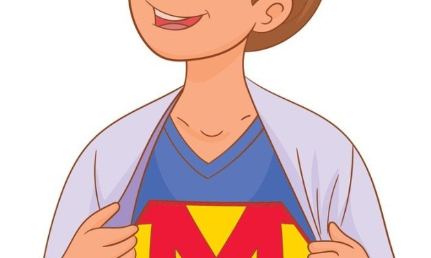 Dekoracje: super mama (7 szablonów)