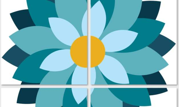 Dekoracje – kwiaty XXL (10 szablonów)