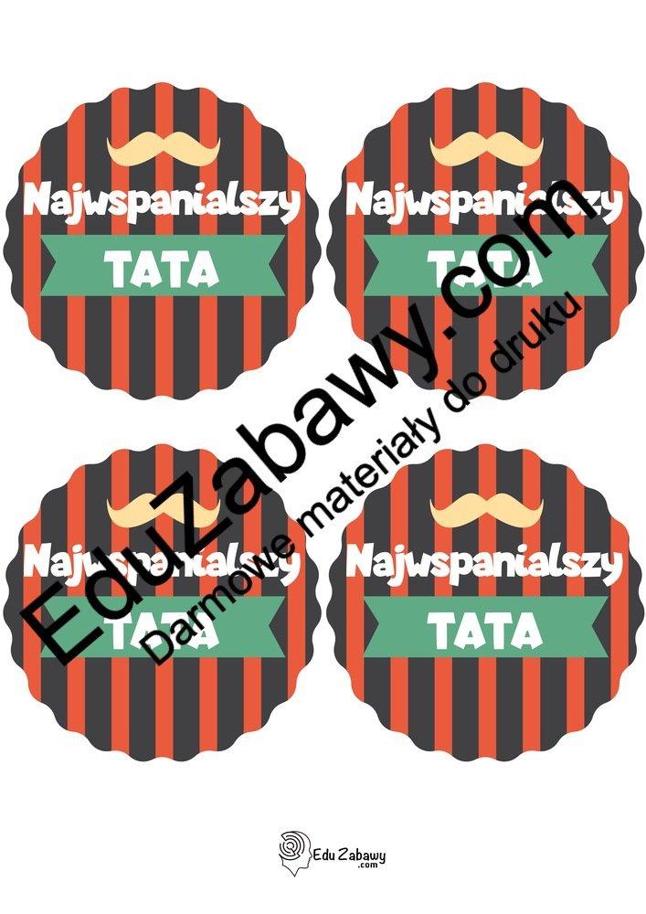 Medal Super Taty (4 szablony) Dzień Taty Odznaki i medale (Dzień Taty)