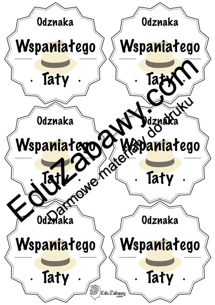 Odznaki i medale na Dzień Taty (6 szablonów) Dzień Taty Odznaki (Dzień Rodziny) Odznaki i medale (Dzień Taty)