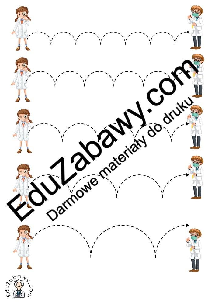 Dzień Chemika: Szlaczki (10 kart pracy) Dzień Chemika Karty pracy Szlaczki