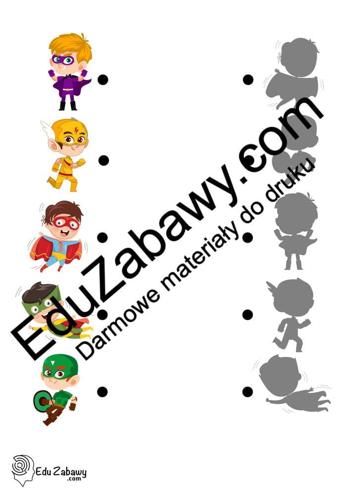 Dzień Chłopaka: Dopasuj cienie  (10 kart pracy) Dopasuj cienie Dzień Chłopaka Karty pracy Karty pracy (Dzień Chłopaka)