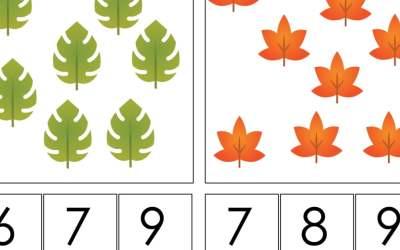 Jesień: Matematyka klamerkowa (40 kart pracy)
