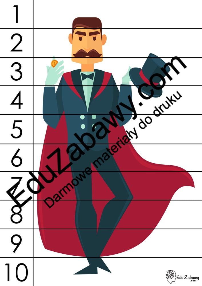 Andrzejki: Puzzle 10 elementów (10 kart pracy) Andrzejki Karty pracy Karty pracy (Andrzejki) Puzzle
